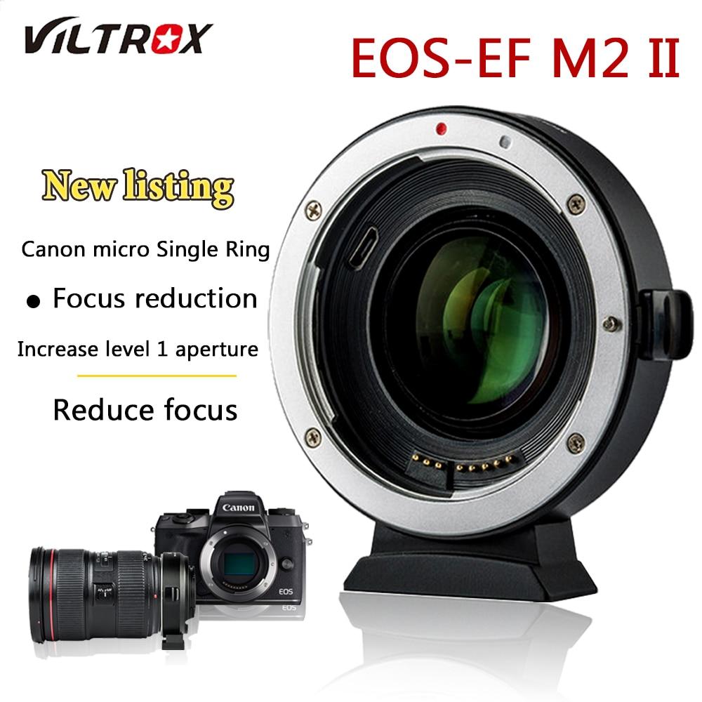Adattatori per Obiettivi Fotografici Viltrox EF-M2 Riduttore Adattatore Booster Auto-messa a fuoco 0.71x per Canon EF mount lens per EOS M camera M6 m3 M5 M10 M100 M5
