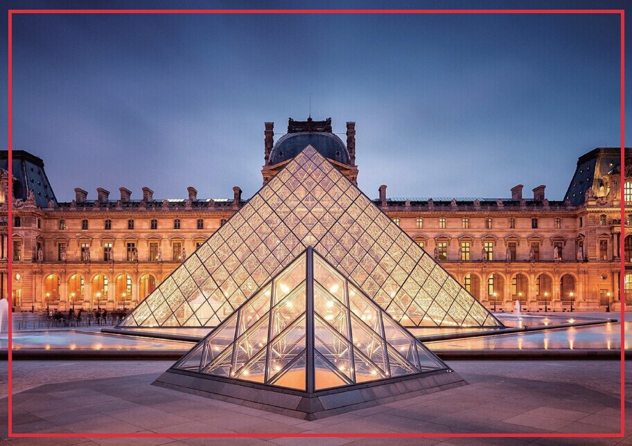 Free Shipping 78 54mm Paris Glass Pyramidof Louvre Rigid Decoration Fridge Magnet 20049 Tourist Memorabilia Gift in Fridge Magnets from Home Garden