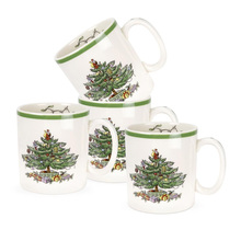 4 Pcs 9 Oz  Christmas tree mug milk white Nordic New Years gift home coffee Mug Drinkware Children Gift
