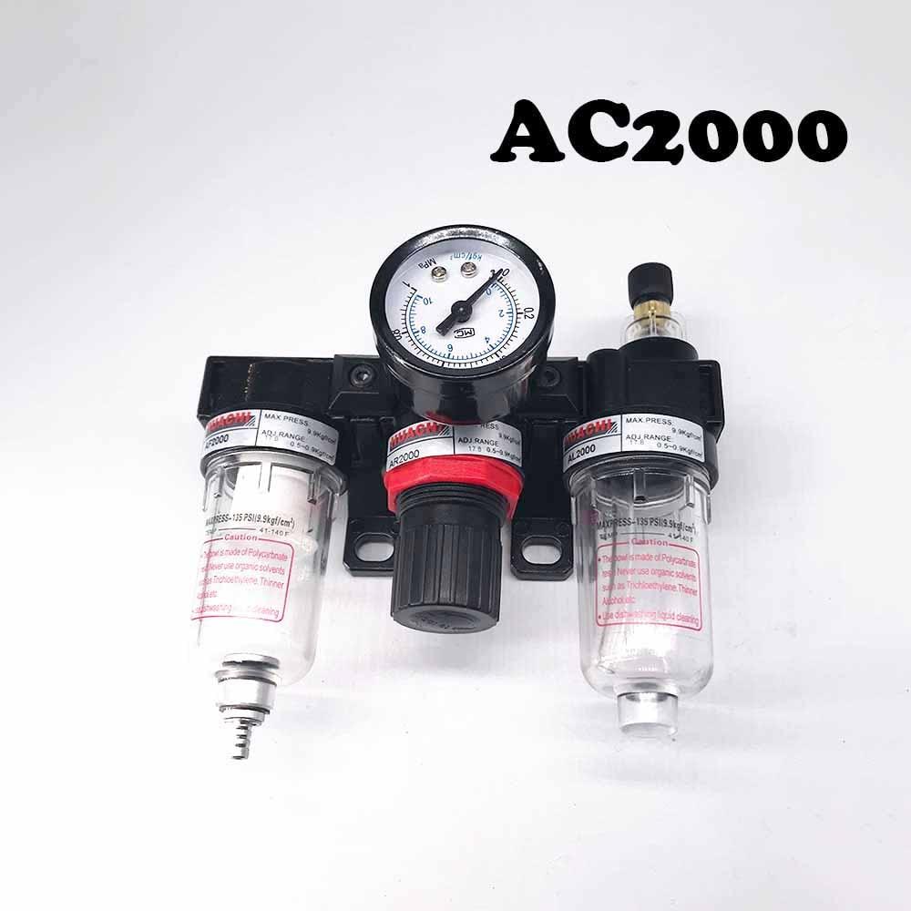 AC2000 Air source triplet Free shipping Pneumatic Parts Air Source treatment unit pressure regulator Oil/water separation air unit pneumatic source treatment g1 4 afc2000