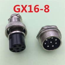 1set GX16 8 Pin Male & Female Diameter 16mm Wire Panel Connector L76 GX16 Circular Connector Aviation Socket Plug Free Shipping