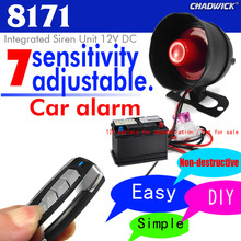 Universal siren accessorie Car Alarm System Sound aloud horn Burglar Vibration alarm CHADWICK 8171 Installation non destructive