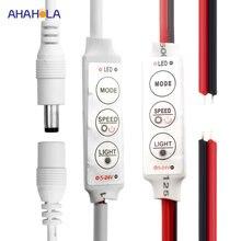 Mini dimmer led 12 v dc led şerit için dimmer ışıkları 5-24 v 3 anahtar led dimmer anahtarı led lambalar için