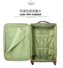 """Wholesale!20 24 28"""" oxford fabric flower printed trolley luggage suitcases bags set,large capacity travel luggage bags wc-111"""