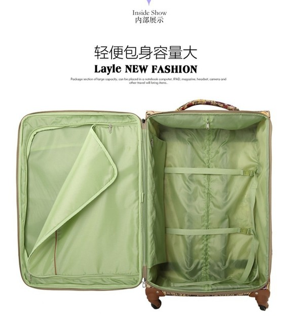 "Wholesale!20 24 28"" oxford fabric flower printed trolley luggage suitcases bags set,large capacity travel luggage bags wc-111"