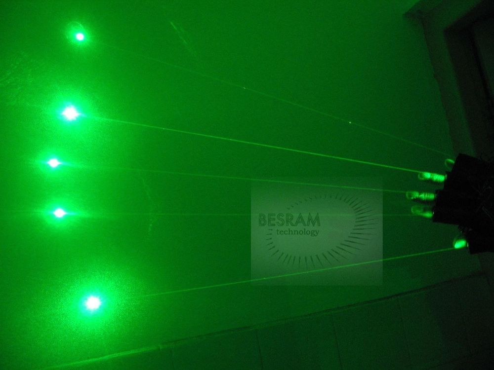 532nm Green Laser Glove of 5pcs 50mW-80mW Visible Beam Diode Modules Stage Lighting DJ Club Party Show Dancing 100 beams multiple beam lasers gloves green 532nm laser module lazer diode dj disco green laser glove event
