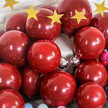 100PCS/ Lots(50sets) 12″10″5″ Ruby Red Balloon Double-deck Wedding Romantic Confession Decor Birthday Helium Ballons Gifts