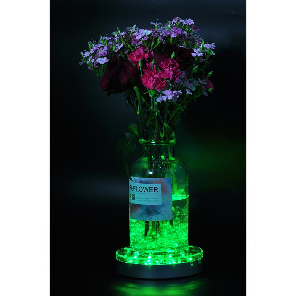 Free Shipping 60pcs/Lot 6inch Multiclors LED Light Base, Remote Controlled Under Vase Light Battery Operated Centerpiece Lights