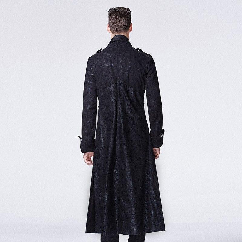 2018 Gothic Black Höst och Vinter Lång Windbreaker Män Steampunk - Herrkläder - Foto 5