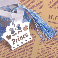20PCS Prince Princess Crown Bookmarks personalized wedding favors and gift event party supplies boy girl and baby shower gifts