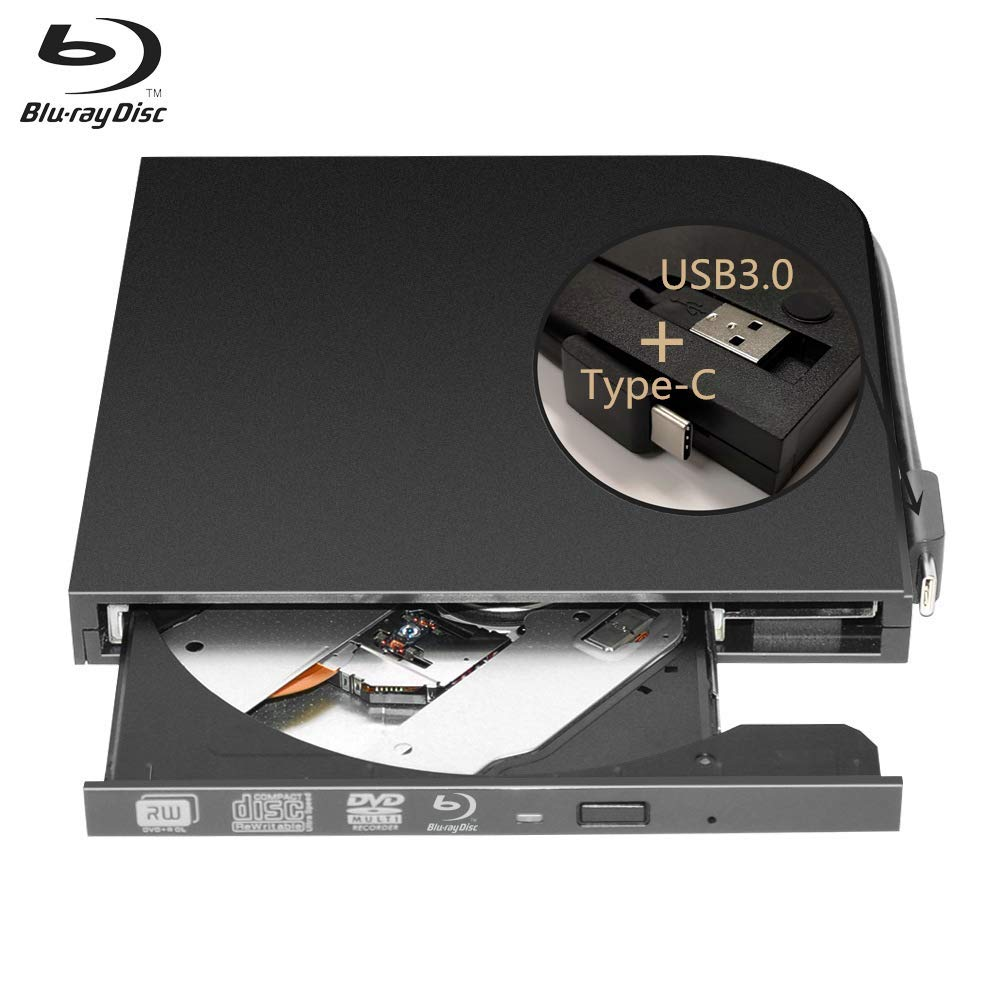 External Blu-Ray DVD Drive Burner Player USB3.0 Type-C DVD-RW VCD CD RW Burner Support BD-ROM BD-R CD-ROM CD-R DVD-ROW DVD-R упаковочная коробка cd dvd vcd cd dvd cd size12 5 12 5 f0098