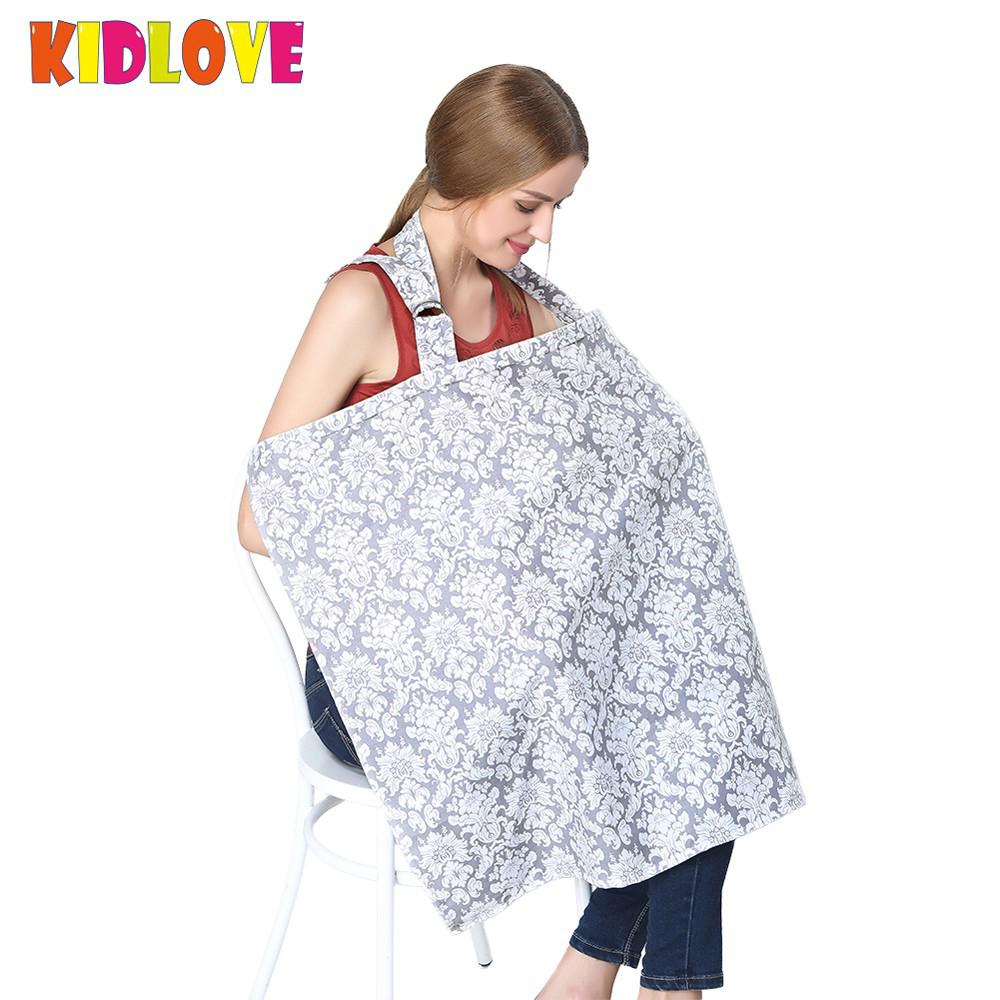 KIDLOVE  Breast Feeding Nursing Cover Pure Cotton Outdoor Multifunction Baby Mum Breastfeeding Cover Sling Vest