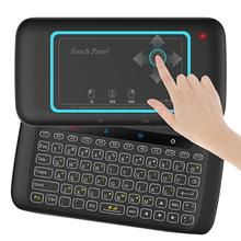 H20 Universal Mini Backlight Touchpad Keyboard Wireless Air Mouse Controller For Android tv Box, Laptop, PC laptop keyboard base for hp for envy x2 13 j000 saudi arabia ar 796692 171 kbbta2811 gray with backlight and touchpad