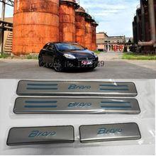 4 шт. автомобиля порога протектор стикер из нержавеющей стали для Фиат Браво