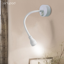 Ceiling Wall Mounted Lamp 3W Flexible Arm 360 Angle Rotating Mini LED Spotlight for Picture Showcase Gallery Jewelry lighting
