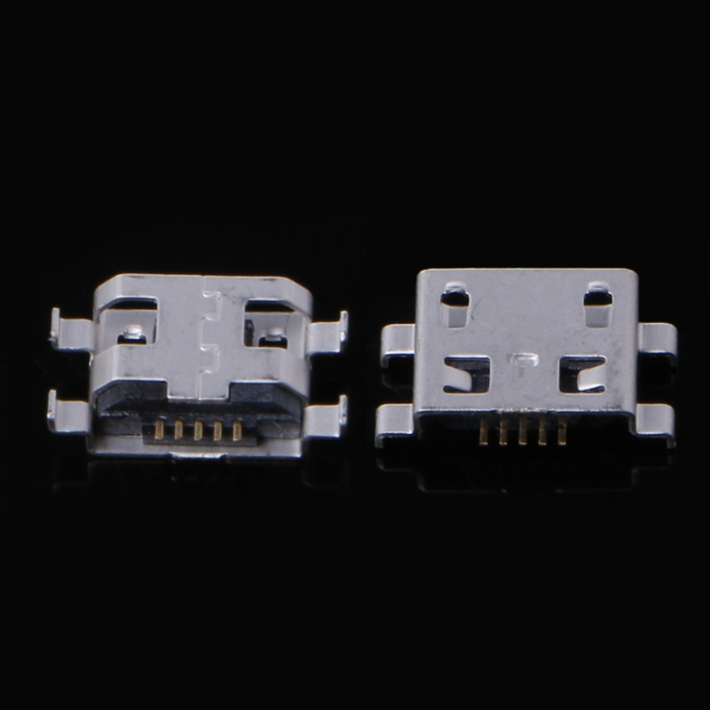 OOTDTY 10 Pcs Type B Micro USB 5 Pin Female Charger Mount Jack Connector Port Socket