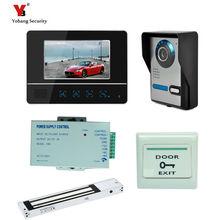 Yobang Security Freeship 7 inch screen color video door phone intercom system video intercom doorbell monitors door bell video