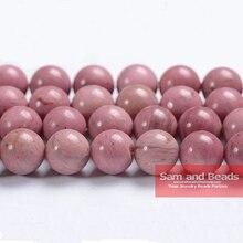 """Натуральный камень класса AAA Родонит круглые бусины 1"""" нить 4 6 8 10 12 мм выбрать размер для изготовления ювелирных изделий RB01"""