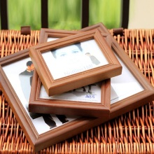 Europe Creative Wood Grain Photo Frame Hanging Art Wall Decor Desktop Pictures Birthday Gifts Home Decoration