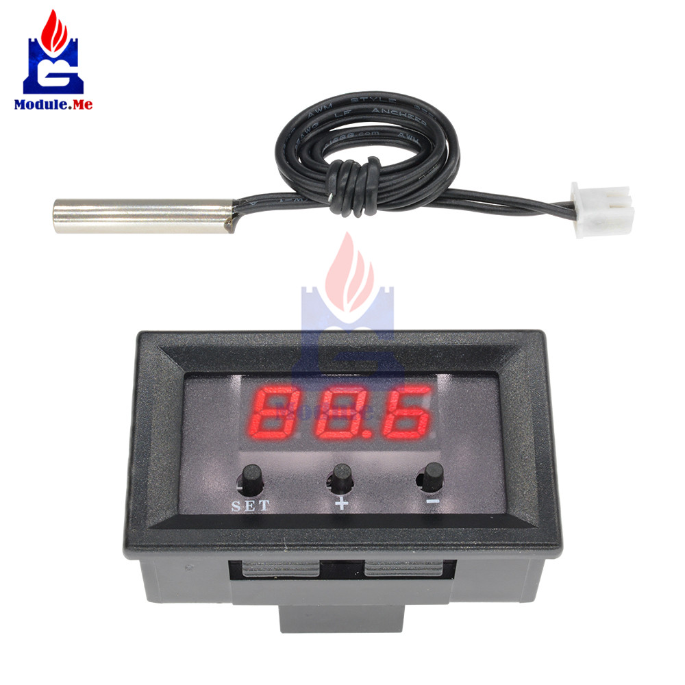 W1209 Dc 12 V Thermostat Thermometer Temperature Digital Led Display For Measurement With Cable Tester In Integrated Circuits From Electronic