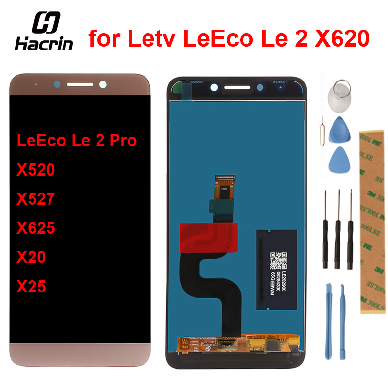 leeco le s3 x626 LCD +Touch Screen Digitizer Assembly for Le 2 X620 /Letv Le 2 Pro X520 X527 X625 X20 X25 Le S3 X622 X626 X522