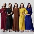 2015 Мусульманин абая платье для женщин Исламского платья дубай кафтан Исламская одежда Мусульманская абая Платье турецкий джилбаба хиджаб CS3192