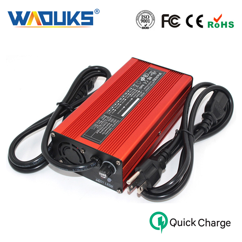58 8V 4A Red Aluminum shell Lithium Battery Charger For 51 8V 14S Li Ion Lipo