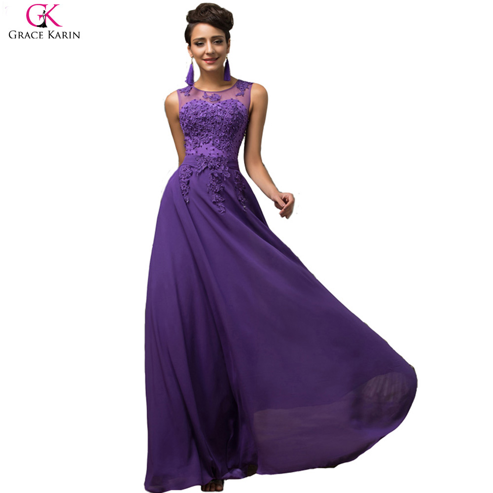 Popular Elegant Purple Dresses-Buy Cheap Elegant Purple Dresses ...