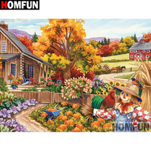 HOMFUN Full Square/Round Drill 5D DIY Diamond Painting House landscape Embroidery Cross Stitch 3D Home Decor Gift A13036 homfun full square round drill 5d diy diamond painting house landscape embroidery cross stitch 5d home decor gift a18092
