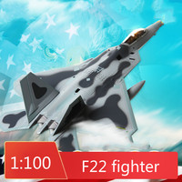 1:100 F22 Fighter Model Alloy F 22 Amertica Raptor Stealth Fighter Simulation Finished Diecast Military Model Aircraft Ornaments