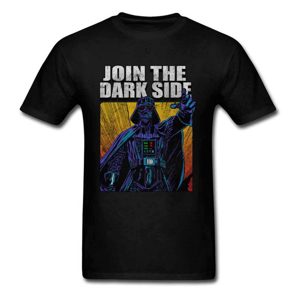 Iron Vader Tshirt Star Wars Gaming Black T Shirts Dark Side Movie T-Shirt For Mens Fashi ...