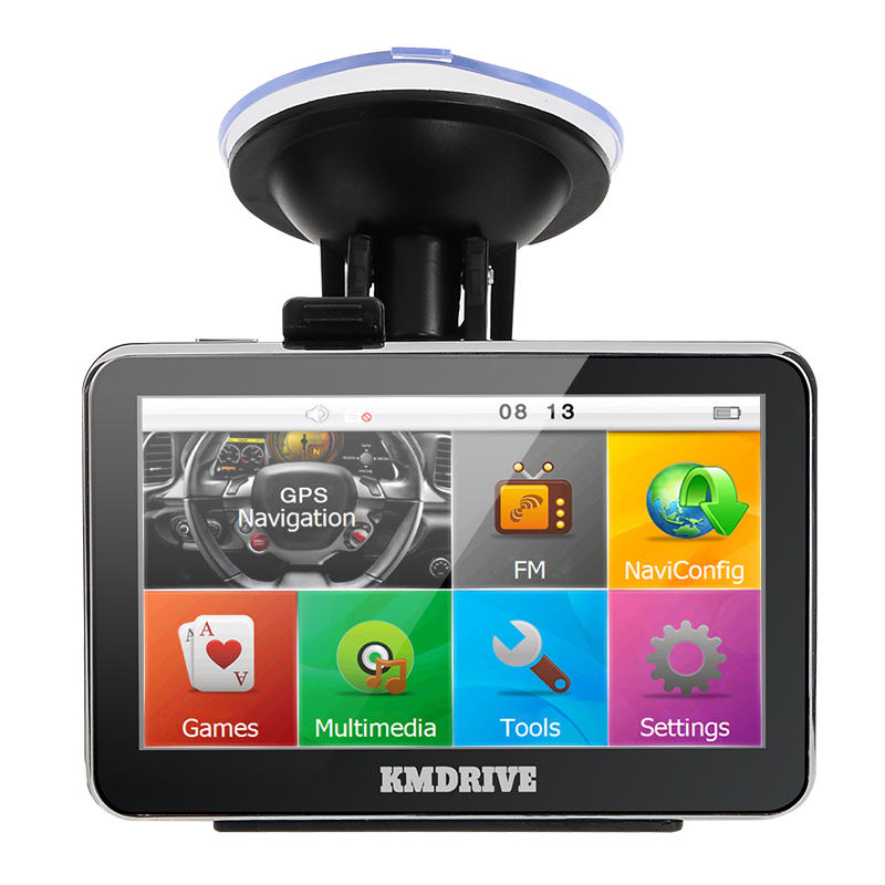 KMDRIVE  4.3 inch touch screen car gps navigation 4GB bundle free maps