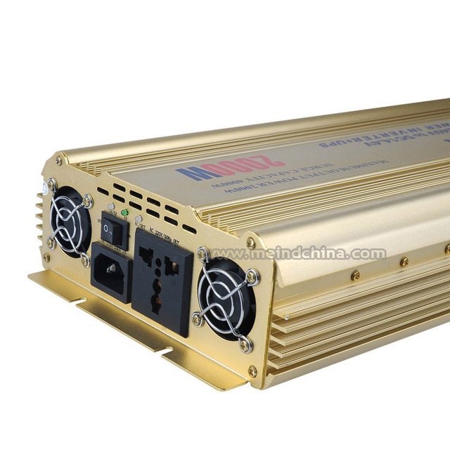 High Quality PSW Pure Sine Wave Built-in Charger UPS DC 12V to AC 220V Sufficient 2000W Peak 4000W Power Inverter