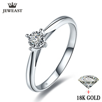 18k White Gold Wedding Ring Couple Ring Rose Gold Simple Exquisite Gift For Girlfriend Diamond Ring