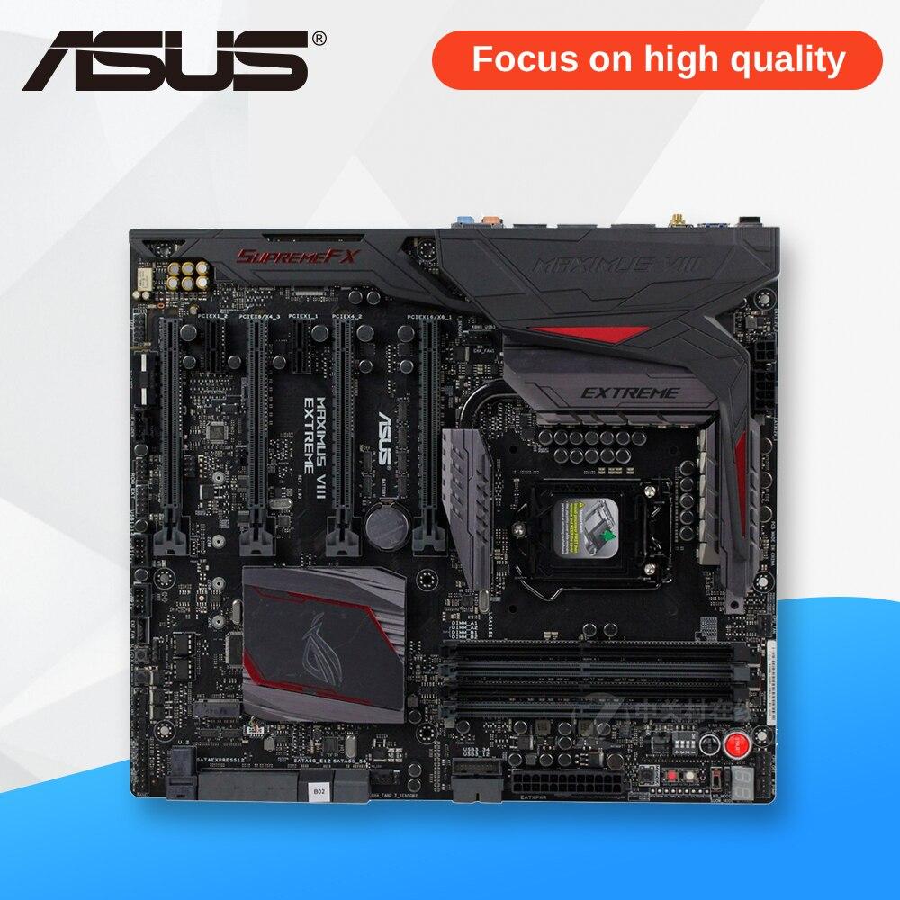 Asus MAXIMUS VIII EXTREME Original New Desktop Motherboard M8E Z170 Socket LGA 1151 i7 i5 i3 DDR4 64G SATA3 E-ATX for msi z170a krait gaming 3x original new desktop motherboard for intel z170 socket lga 1151 for i3 i5 i7 ddr4 64g sata3 atx