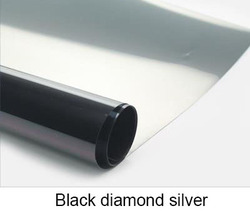 Black Diamond Silver Waterproof Window Film One Way Mirror Silver Insulation Stickers UV Rejection Privacy Window Tint Films