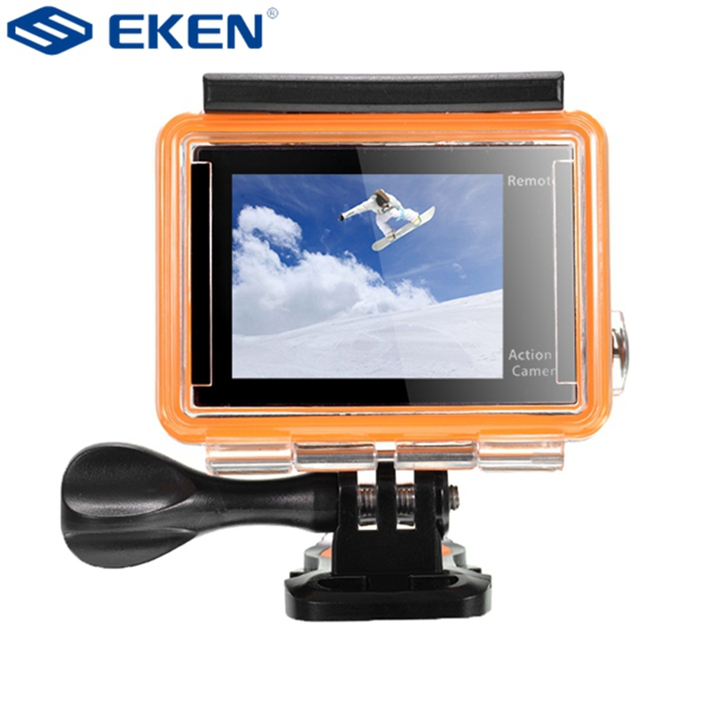 EKEN H8R Sport Action Camera DV VR 4K Ultra HD Dual Screen WiFi 2.4G Controller with VR 180 Degree Video Recording Built-in WiFi