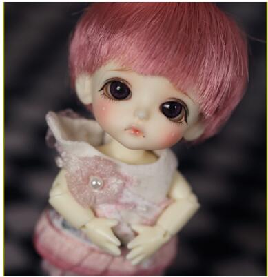 Free shipping 1 12 BJD doll white line Belle with eyes