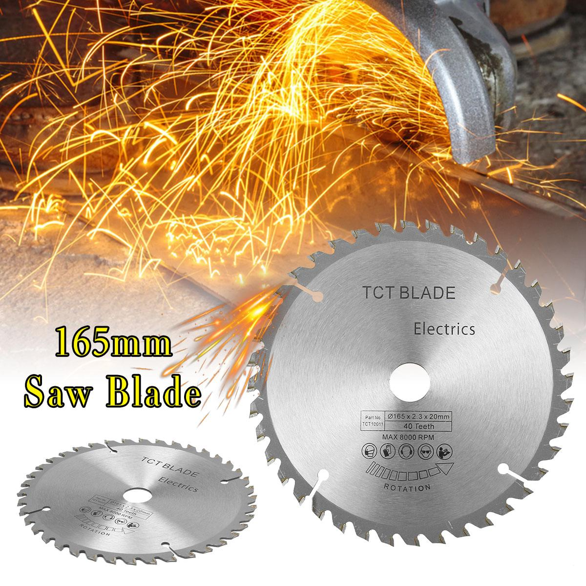 165mm Circular Saw Blade 40 Teeth Cutting Disc With Reduction Ring High Speed Steel