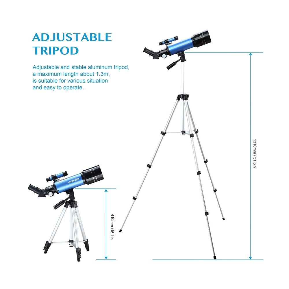 Aomekie 70400 telescópio para iniciante com tripé
