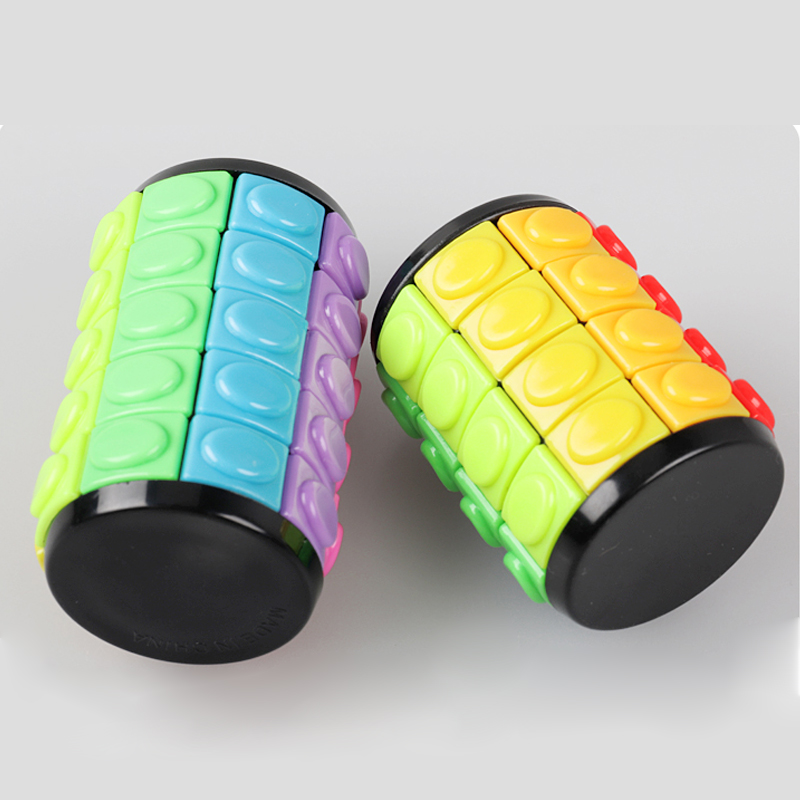 Image 5 - New 3D Rotate Slide Babylon Tower Stress Cube Puzzle Toy Cube Kids Adult Color Cylinder Sliding Puzzle Sensory Toy-in Magic Cubes from Toys & Hobbies