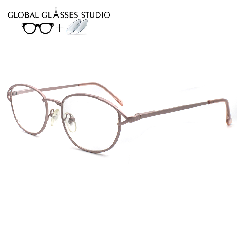 Women Metal  Glasses Frame Eyewear Eyeglasses Reading Myopia Prescription Lens 1.56 Index LX-R085(China)