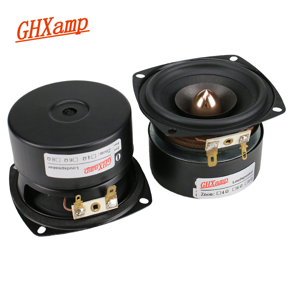 GHXAMP 3 Inch Full Range Speaker 4ohm 15W Hifi Tweeter MID Bass Loudspeaker Bluetooth Speaker DIY Mid Frequency transparent 2pcs ghxamp 2pcs 4 inch full range speaker bullet rubber tweeter mid woofer speaker hifi home theater audio 2 0 2 1 loudspeaker diy