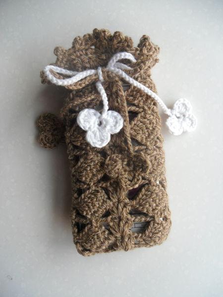 Handmade Crochet Cell Phone Pocket Mobile Phone Case Mobile Phone