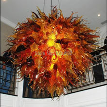 Free Shipping 2015 Fashionable Blown Glass Large Chandelier