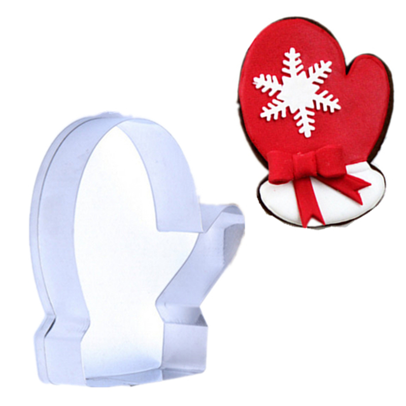 1PC/Lot Christmas Series Cute Winter Gloves Cookie Cutter Chocolate Dough Fondant Decorating Tools Gloves Shape Biscuit Cutter