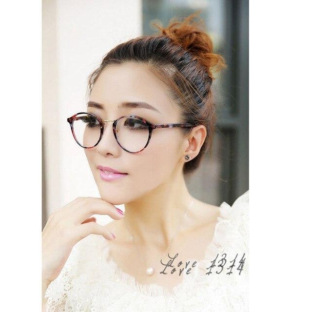 14fb3e0d32 Hot Fashion Lovely Unisex Clear Lens Nerd Geek Glasses Men Women Sunglasses Round  Eyewear Floral Leopard Black Eyewear SV013261