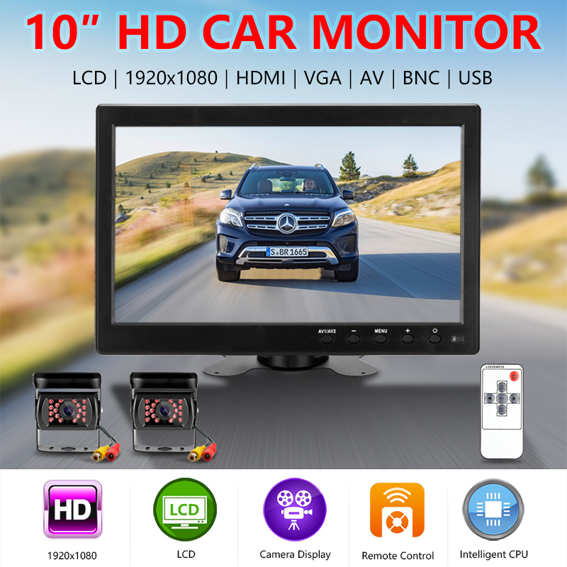Jansite 10 quot Car Monitors IPS camera Car Rear View monitor Parking Rearview System with Backup cameras wide range of applications in Vehicle Camera from Automobiles amp Motorcycles