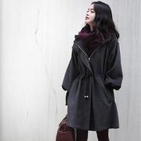 abrigos mujer invierno 2019 plus size winter/spring new women woolen coat windbreaker jacket Slim female wool Trench coats