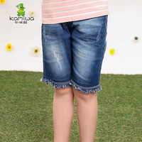 KAMIWA 2018 Summer girls cowboy cotton children's trousers denim shorts child pants clothing Kids Girl Baby Jeans